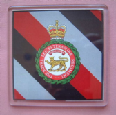 ROYAL LEICESTERSHIRE REGIMENT LARGE ACRYLIC COASTER